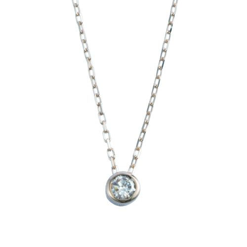 K10WG ダイヤ ネックレス