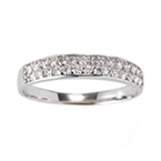 QIREINI  K18WG H&Cダイヤモンドリング